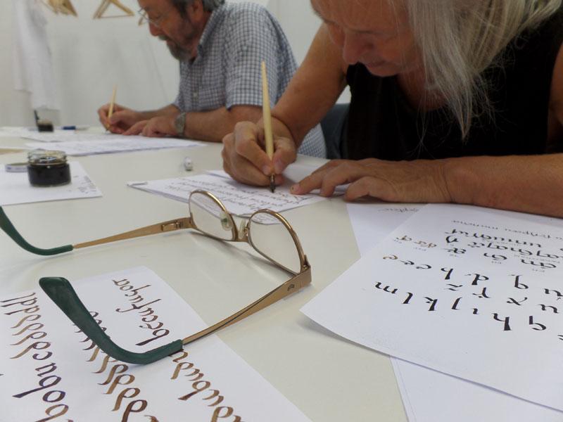 Taller de caligrafía 2015_Día 1