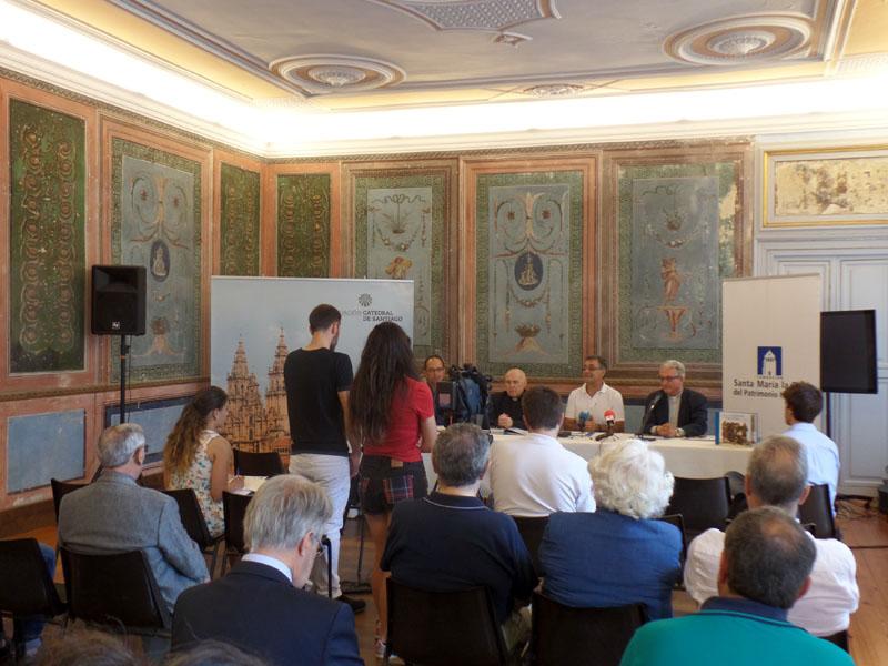 Un momento de la presentación del libro Peregrinar a Compostela en la Edad Media