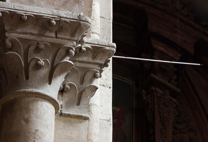 Antena de uno de los sensores colocados en la iglesia de San Martín (Salamanca)