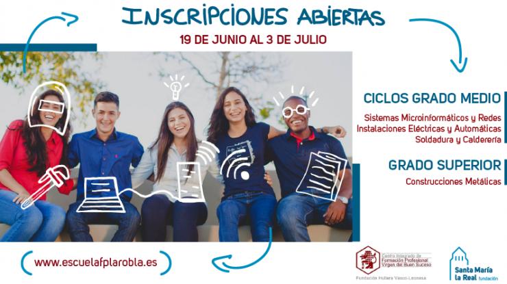 Anuncio matriculación en centro FP La Robla