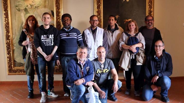 Alumnos y profesores de MILMA durante la visita a la ciudad de Ávila