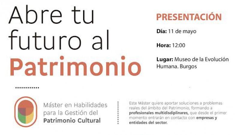 Anuncio Presentación Máster en Burgos