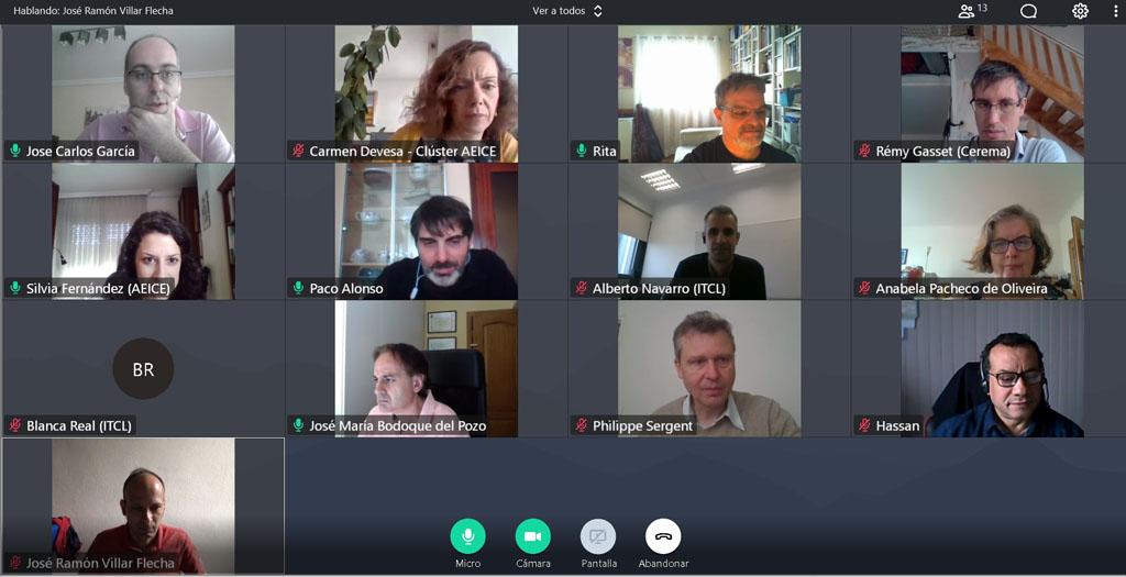 Reunión virtual del proyecto Inundatio
