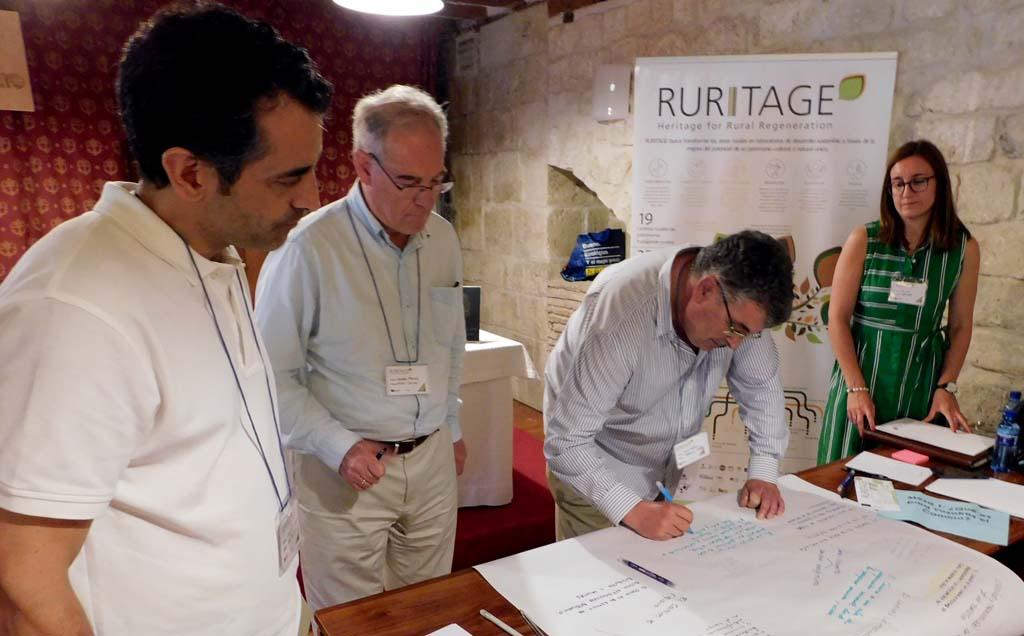 Dinámica de trabajo en Carrión de los Condes dentro del proyecto RURITAGE