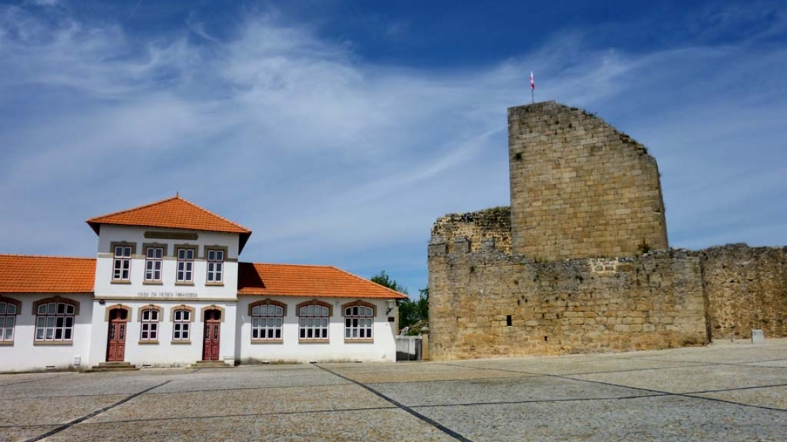 Detalle del castillo de Miranda do Douro