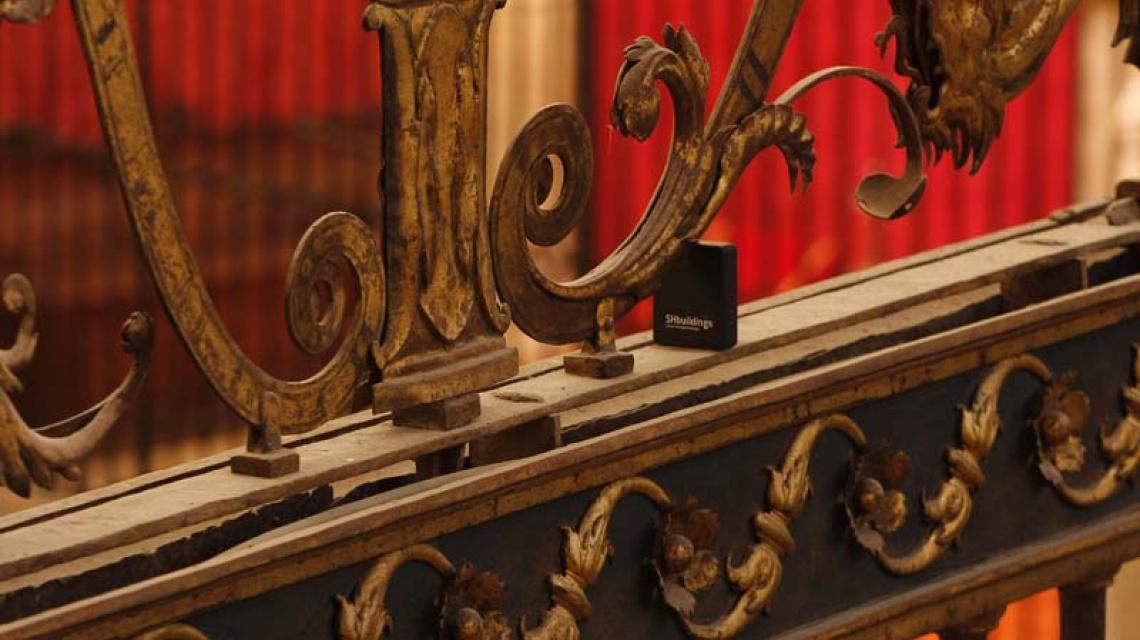 Sensor instalado en la catedral de Palencia