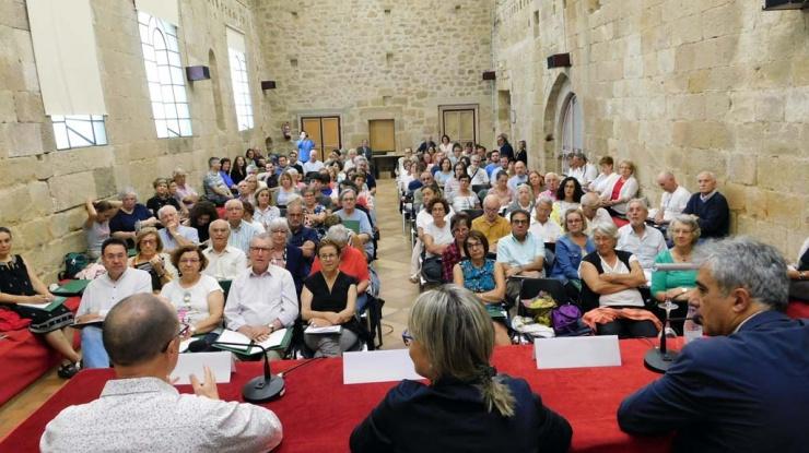 Un momento de la inauguración del curso de Las Claves del Románico