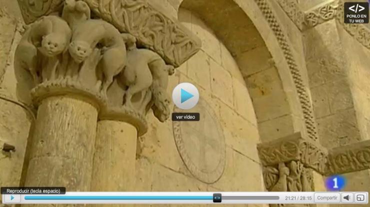 fotograma del reportaje de TVE sobre la restauración de la iglesia de la Trinidad